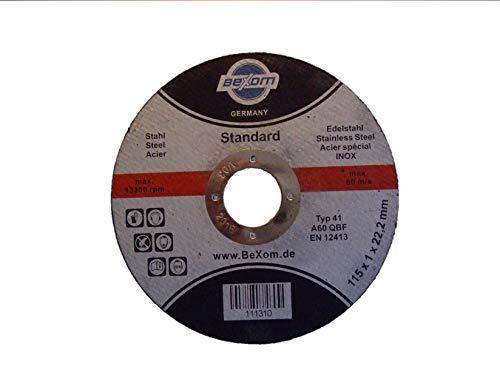 Olbrich-Industriebedarf - Lot de 10 disques à tronçonner 115x 1mm en inox Pour l'acier...