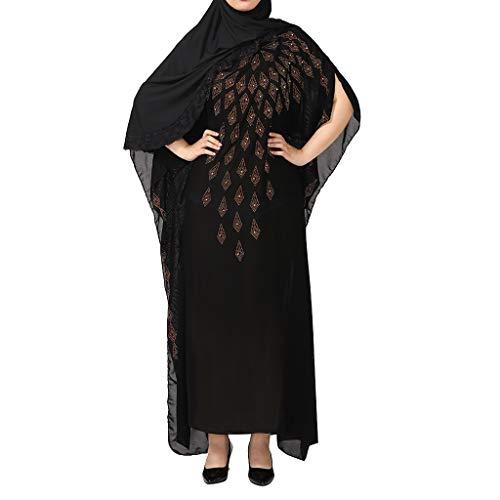 Setsail Nationale Robe der Damen islamisches moslemisches Bequem langes Kleid
