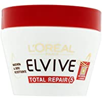 L'Oréal Paris Elvive Total Repair 5 Maschera Ricostituente per Capelli Sciupati, 300 ml
