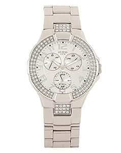 Guess - W0325L2 - Intrepid 2 - Montre Femme - Quartz Analogique - Cadran Blanc - Bracelet Plastique Blanc