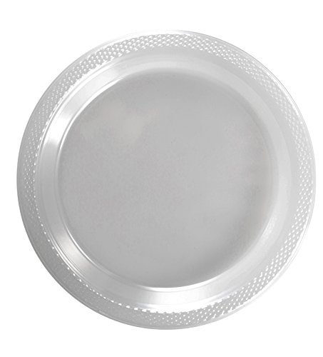 Exquisite Kunststoff Dessert/Salat Teller-Farbe Einweg Teller-100Zählen 10 Inch. farblos Dessert-club