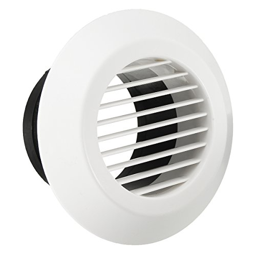 Air Louver Cover (ChaRLes ABC Ventilation Grille Air Grille Round Round Air Vent ABS Louver Grille Cover 100mm)