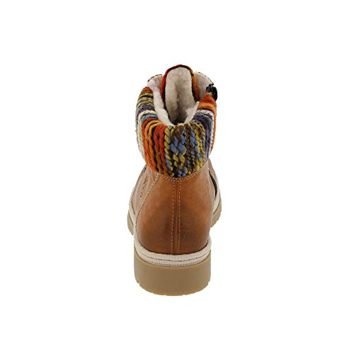 Rieker Y9432-24, Stivali donna cayenne/orange-multi