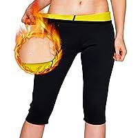 NOVECASA Suana Chaleco Camisa de Manga Larga Mujer/Pantalones Cortos de Sudoracion de Neopreno Shapewear para Sudoración, Quema Grasa, Adelgazante (S, Pantalones Cortos)