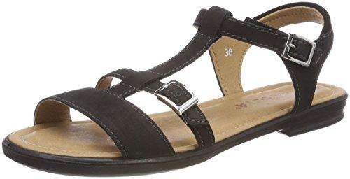 Sandalen Große Füße (RICOSTA Mädchen KALJA Offene Sandalen, Schwarz, 38 EU)