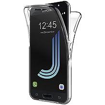 Funda Samsung Galaxy J5 2016, AICEK Transparente Silicona 360°Full Body Fundas para Samsung J5 2016 Carcasa Silicona Funda Case