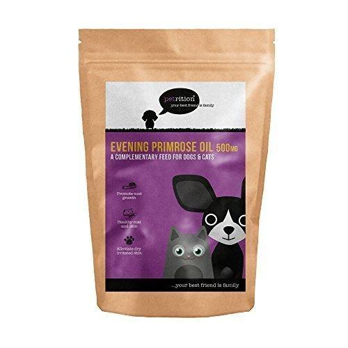 petrition Nachtkerzenöl für Hunde & Katzen - 365 Kapseln -