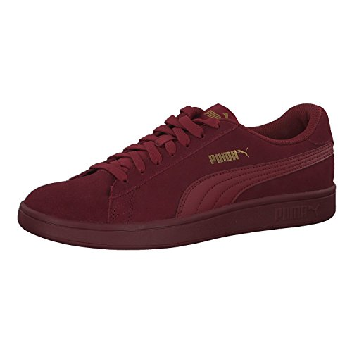 Puma Unisex-Erwachsene Smash V2 Sneaker, Rot (Pomegranate-Pomegranate-Pomegranate 20), 42.5 EU (Rot Wildleder Puma)