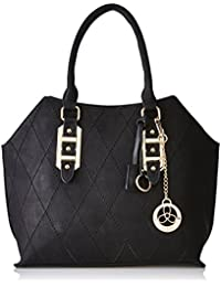 Ladida Ladida Collection Women's Satchel With Pouch And Charm (Black) (Set Of 3) (2017-3 BLACK)