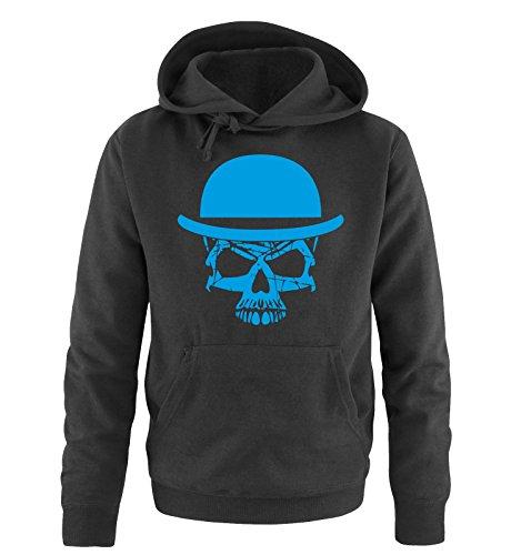 Comedy Shirts - Skull Moustache Style - Uomo Hoodie cappuccio sweater - taglia S-XXL vari colori nero / blu