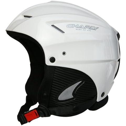 Charly Loop, casco da sci e da parapendio, corredabile di visiera, bianco brillante, taglia L/XL