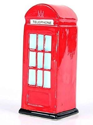 Ceramic London Money Box, Red Telephone Box