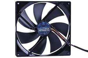 Phobya - Ventilateur 180 mm - PWM - 056 CFM - 17 dBA - G-Silent 18 PWM - Noir - 900 RPM