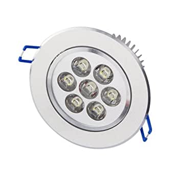 Aubig 7W Spot LED plafonnier Downlight Eclairage intérieur Blanc chaud 220V