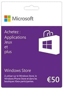 Carte Cadeau Windows Store 50 euros