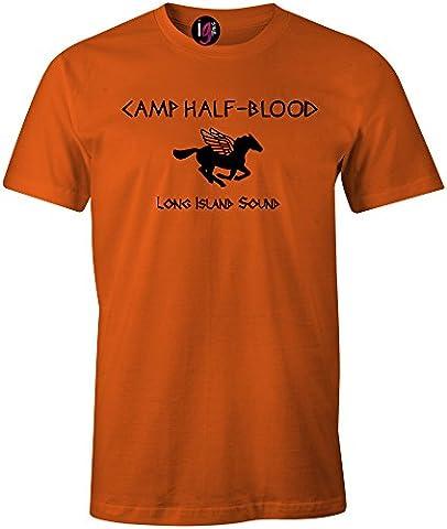 Igtees Jungen T-Shirt orange Orange (Black Print),
