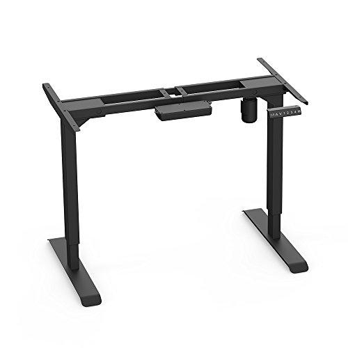 AIMEZO Schreibtisch Höhenverstellbar Elektrisch Schreibtisch Tischgestell, 2-Bühne Hebe Beine, Mit 4 Automatischen Speichertastaturen und Stützlast 100kg (Schwarz)