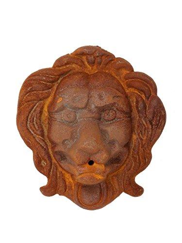aubaho Löwenkopf Löwe Dekoration Eisen Wandbrunnen Wasserspeier Skulptur Figur