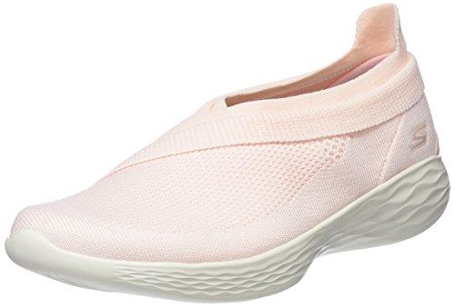 Skechers You-Spirit, Zapatillas Sin Cordones para Mujer, Varios Colores (Peach), 36.5 EU