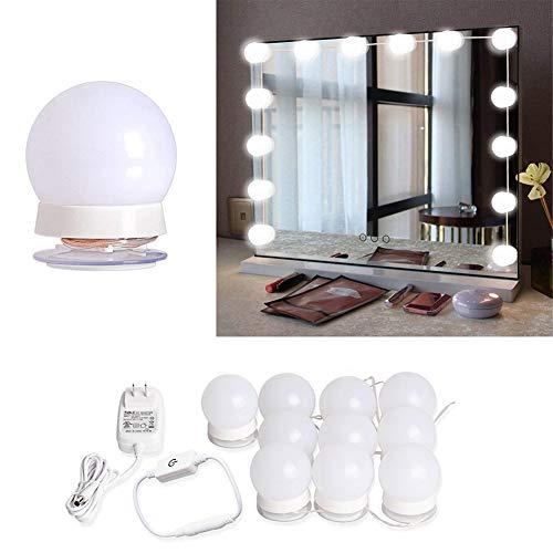 Majome LED-Kosmetikspiegel Lichterkette mit 10 dimmbaren Glühbirnen für Make-up Schlafzimmer...