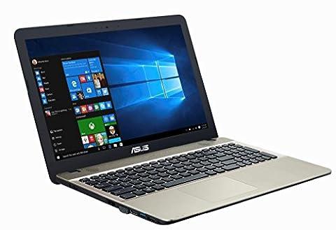 Asus F541SA-XO229T 39,62 cm (15,6 Zoll matt) Notebook (Intel Pentium QC N3710, 8GB RAM, 1TB HDD, DVD, Win 10) Chocolate (Asus Notebooks)