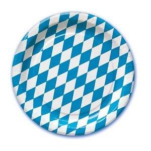 Preisvergleich Produktbild 50 Pappteller Oktoberfest Bayern 23cm Durchmesser