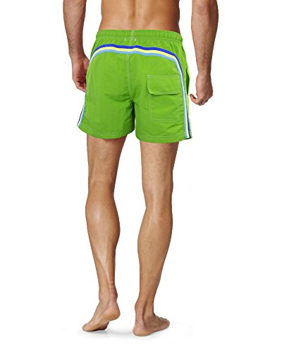 Girogama, Costume da Bagno Boxer, Shorts Mare Uomo- 5348CS Verde