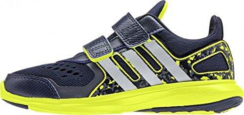 adidas , Jungen Leichtathletikschuhe  Schwarz Azul marino / Plata / Lima