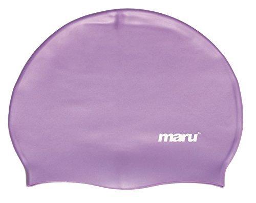 Solid Silikon (Maru erwachsenen silikon badekappe solid farben - Lila, Einheitsgröße)