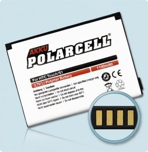 Li-Polymer Akku 1100mAh PDA und Smartphones HTC P3400 P3450 Elf Touch MDA Touch XDA Nova VPA Touch