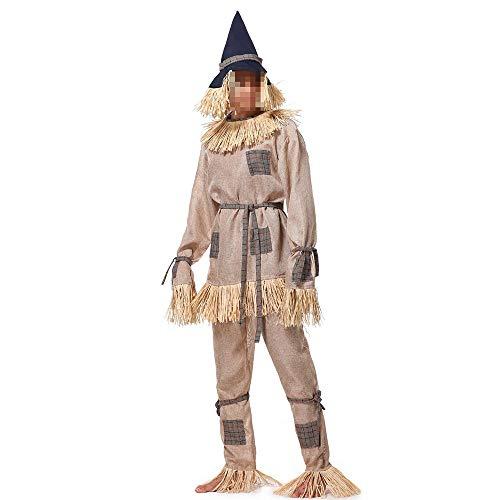 Halloween Oz Kostüm Wizard Of - kMOoz Halloween Kostüm,Outfit Für Halloween Fasching Karneval Halloween Cosplay Horror Kostüm,Herren Wizard of Oz Scarecrow Bühnenkostüme Halloween-spielanzüge