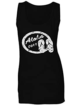 Nuevo Verano Sello Elemento Playa camiseta sin mangas mujer i489ft