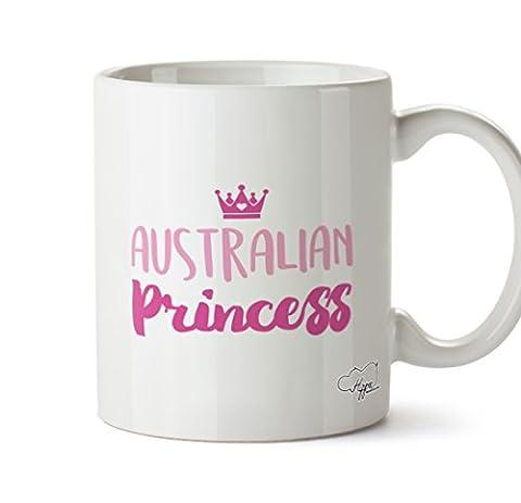 Costume Emu - Hippowarehouse australien Mug Princesse 283,5gram Tasse, Céramique,