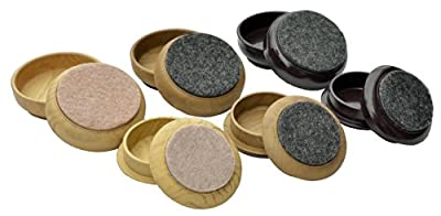 Felt Floor Cups/Castors - PROTECT your Wood Laminate, Wooden, Tile & Lino Floors from Scratches - low-cost UK light store.