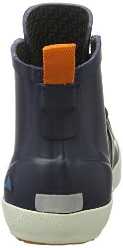 Viking Lillesand Jr., Bottes de Pluie mixte enfant Bleu marine/orange