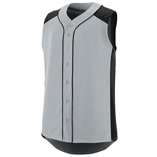 Augusta Sportswear Men'S Sleeveless Slugger Baseball Jersey Xl Silver/Black (Augusta Sleeveless Jersey)