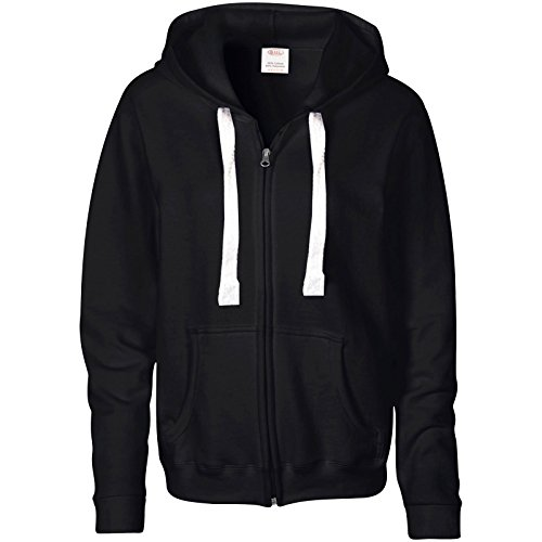 41fAe%2BzbpEL. SS500  - B.U.L ® LADIES PLAIN ZIP HOODIE PULL STRING SWEATSHIRT FLEECE HOODED JACKET SIZE 6-14