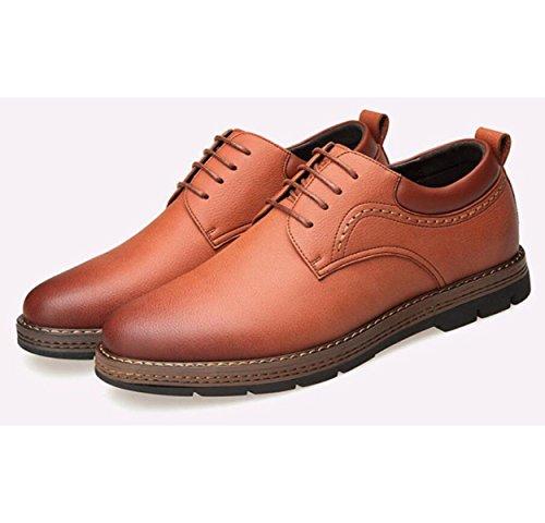 Hommes Chaussures En Cuir Britannique De Mode Dentelle De Travail Chaussures  Casual Chaussures Marron Chaussures ...