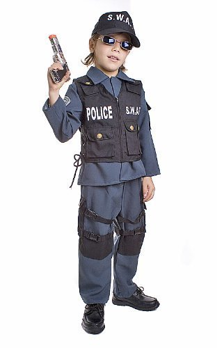 .A.T. Police Officer Costume Set Size Toddler 2 by Dress Up America ()