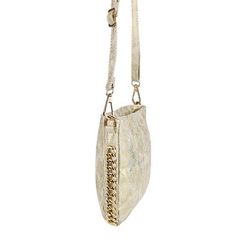 OBC Only-Beautiful-Couture, Poschette giorno donna Beige Oro Beige 27x17x3 cm anch x alt x prof Oro Beige