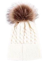 Sombreros de bebé Amlaiworld Bebé niños niñas invierno punto dobladillo sombrero