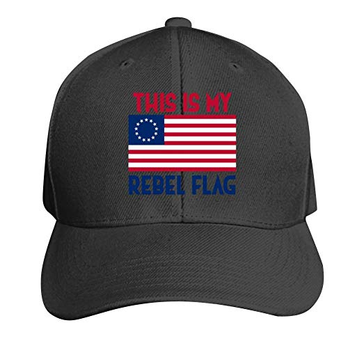 AbbyLexi Baseball Cap My Rebel Flag Betsy Ross Flag Adjustable Trucker Hat Dad Hat Black -