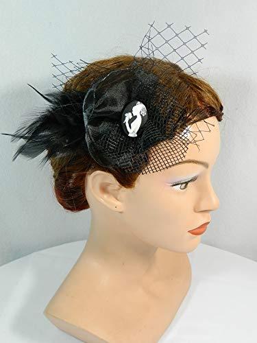 Haarclip Haarspange Medusa schwarz Gothic Punk Fascinator