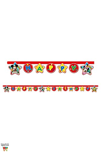 (Disney 2,2 m Mickey Mouse Happy Birthday Banner)