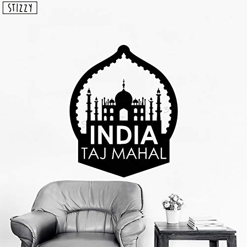 Kreative Indien Taj Mahal Muster Wandaufkleber Moschee Architektur Vinyl Wohnzimmer Wohnkultur Kunstwand rot 42x51 cm ()