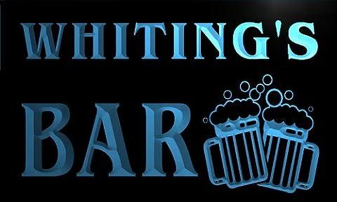 w002116-b WHITING'S Nom Accueil Bar Pub Beer Mugs Cheers Neon Sign Biere Enseigne Lumineuse