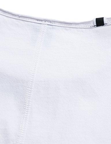 Replay Herren T-Shirt Weiß (Optical White 1)
