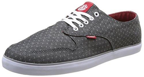 Element Topaz, Chaussures de skateboard homme Gris (Charcoal/Red)