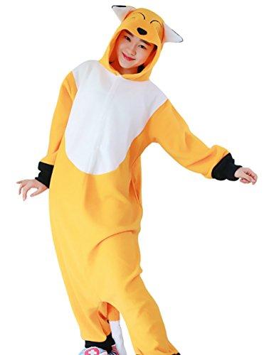 Mena Uk Der hübsche Winterfuchs-Pyjama der Frauen Fleece mit Kapuze Cosplay / Sleep Wear ( Farbe : Orange , größe : Xl (Fox Woman Kostüm)