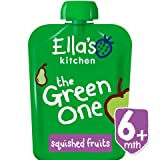 Ella's Kitchen Organic Smoothie Fruits, The Green One, 3 Ounce (Pack of 6) by Ella's Kitchen